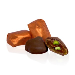 Apricot and Pistachio dipped in Milk Chocolate